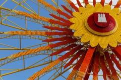 Hamburger Dom Ferris wheel. The Ferris wheel on the annual funfair in Hamburg, Germany. The funfair is called Hamburger Dom Stock Photography