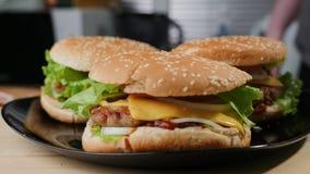 hamburger domowej roboty E obraz royalty free
