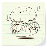 Hamburger Doodle Royalty Free Stock Images