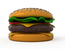 Hamburger dos desenhos animados Foto de Stock Royalty Free