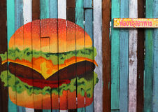 A hamburger drawing. Royalty Free Stock Images