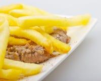 Hamburger e patate fotografia stock libera da diritti