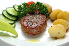 Hamburger e vegetal Fotografia de Stock Royalty Free