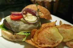 Hamburger elegante Fotografia Stock