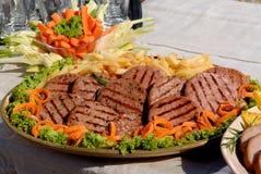 Hamburger en frieten Stock Fotografie