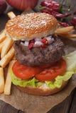 Hamburger en frieten Royalty-vrije Stock Foto
