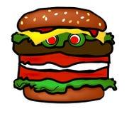 Hamburger engraçado Imagens de Stock Royalty Free