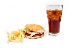 Hamburger et Français images stock
