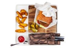 Hamburger et fritures photos libres de droits