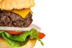 Hamburger et pommes frites faits maison Image libre de droits