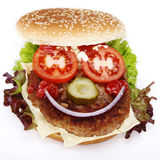 Hamburger with face Royalty Free Stock Photo