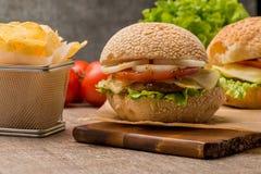 Hamburger fait maison de veggie Images libres de droits
