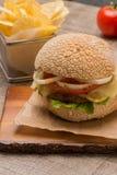 Hamburger fait maison de veggie Images stock