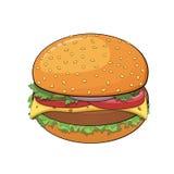 Hamburger royalty free illustration
