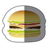 hamburger fast food icon Royalty Free Stock Photography