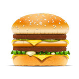 Hamburger fast food vector illustration Stock Images