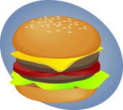 Hamburger fastfood Stock Photography