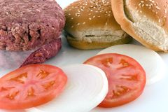 Hamburger Fixins image stock