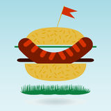 Hamburger flat icon Stock Photography
