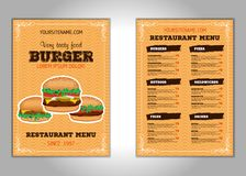 Hamburger flyer design vector template in A4 size or A5. Brochure and Layout Design. food concept. Vector vector illustration