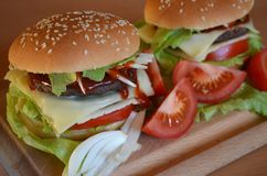 Hamburger frais photos stock