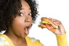 Hamburger-Frau Stockfoto