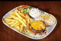 Hamburger with french menu Royalty Free Stock Photos