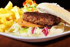 Hamburger with french menu Royalty Free Stock Images
