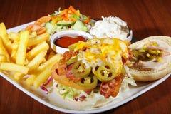 Hamburger with french menu Stock Image