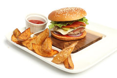 Hamburger fresco Immagine Stock Libera da Diritti