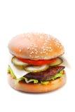 Hamburger fresco com carne e vegetais Fotos de Stock Royalty Free