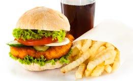 Hamburger fries and cola Stock Photography