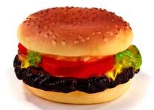 Hamburger gevormd hondstuk speelgoed Royalty-vrije Stock Afbeelding
