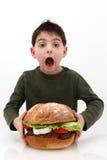 Hamburger gigante Immagini Stock