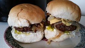 Hamburger giganti del cursore Fotografia Stock