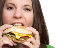 Hamburger Girl Royalty Free Stock Image
