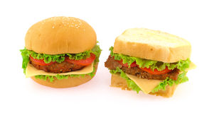 Hamburger grande Imagens de Stock Royalty Free