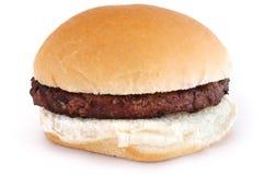 Hamburger grelhado em um bolo imagens de stock royalty free