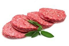 Hamburger grezzo Fotografia Stock