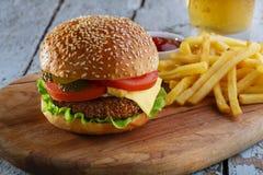 Hamburger grill stock photo