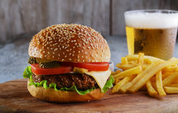 Hamburger grill royalty free stock photography