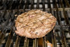 Hamburger Grillin' Royalty Free Stock Photo