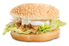Hamburger with gyros Stock Photography
