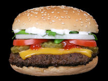 Hamburger: Hamburger met kaas Stock Foto's