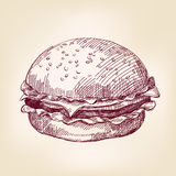 Hamburger hand drawn vector illustration Royalty Free Stock Photos