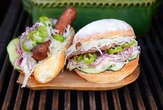 Hamburger and hotdog Royalty Free Stock Photo