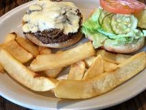 Hamburger i dłoniaki Obraz Stock