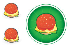 Hamburger icon. Cute hamburger icon - vector illustration Stock Photo
