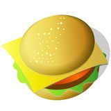 Hamburger icon Stock Photography