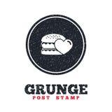 Hamburger icon. Burger food symbol. Stock Photography